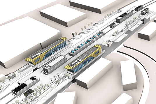 Expo Link Route 2020- Metro Rail Project- Civil Works for R74 Metro Underground Station